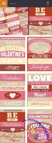 Love Vector Illustrations Pack 2