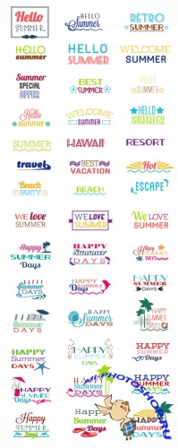 Happy Summer Days Vector Elements