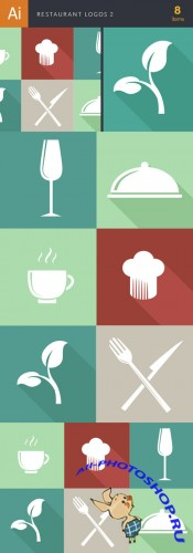 Restaurant Logos Vector Illustrations Pack 2