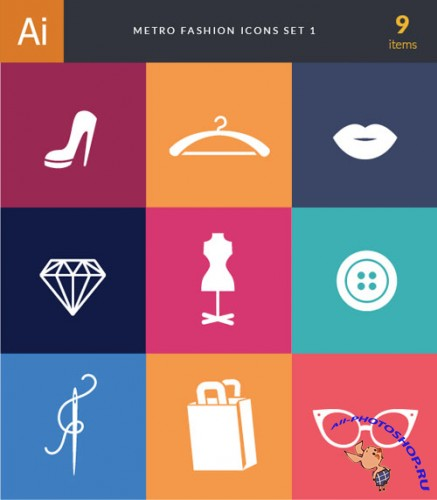 Metro Fashion Vector Icons 1