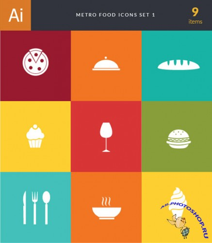 Metro Food Vector Icons 1