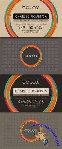 Creative Colorful Style Business Card PSD Template #1