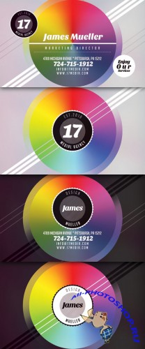 Creative Colorful Style Business Card PSD Template #2