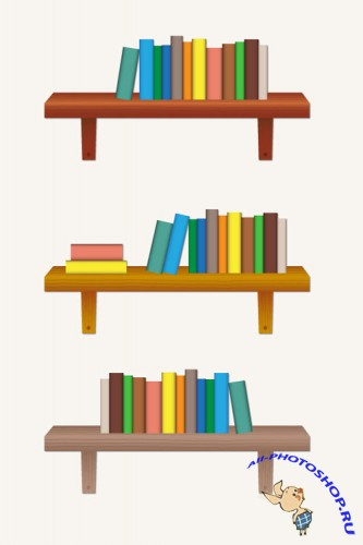 Bookshelf AI Vector Template