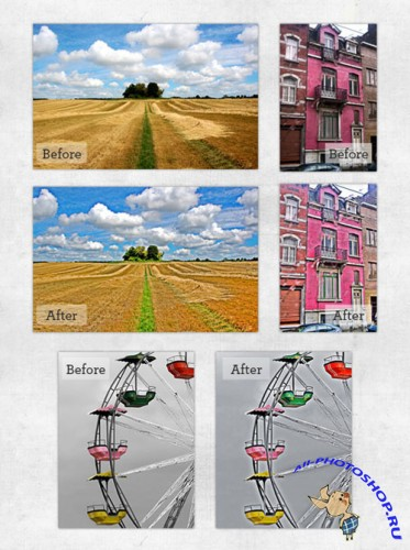 HDR Photo Effect Photoshop Actions