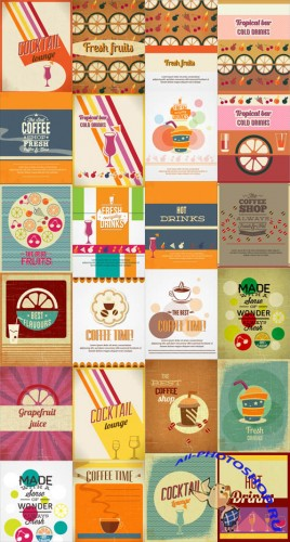 25 Food and Drink Vector Illustrations Set 4