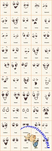 Vector Doodled Expressions Collection