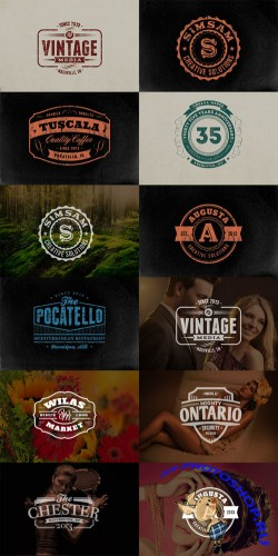 10 Retro Signs and Badges Volume 2