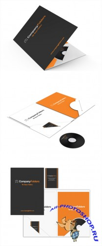 Company Folders Mock up Templates PSD