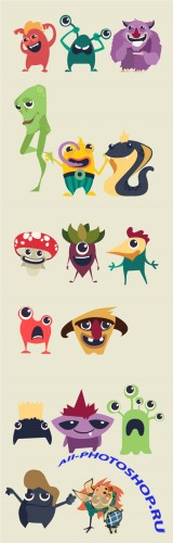 Vector Cute Monsters Collection 2