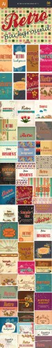 50 Retro Vector Illustrations Bundle