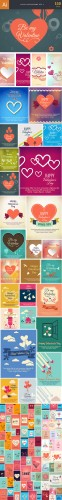 110 Love Vector Illustrations Bundle