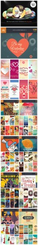 600 Top-Quality Vector Illustrations Bundle - InkyDeals