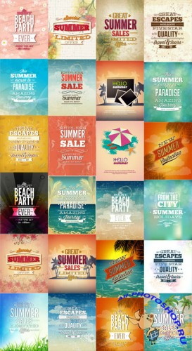 25 Summer Vector Illustrations Set 4