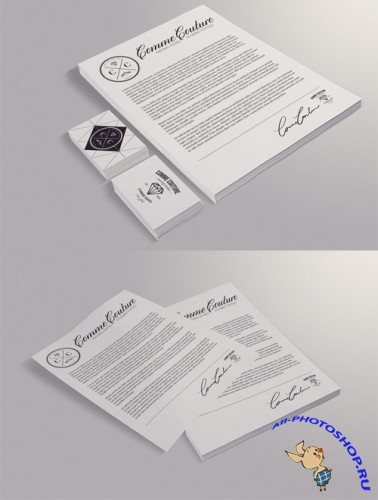 Letter and Card Mockup PSD