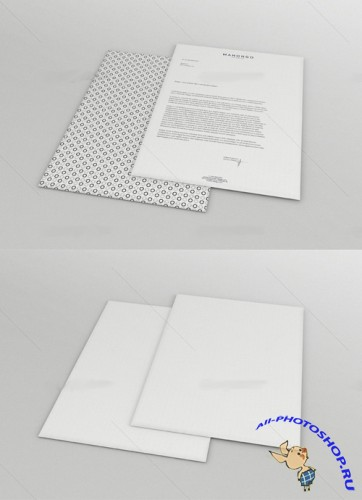Clean Letterhead Mock up PSD