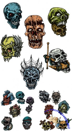 Skulls Vector Packs 25-26-27