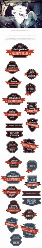 Retro Badges Vector Elements Set 1