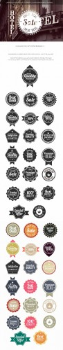Simple Badges Vector Elements Set 2