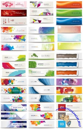 17 Vector Web Banners Bundle