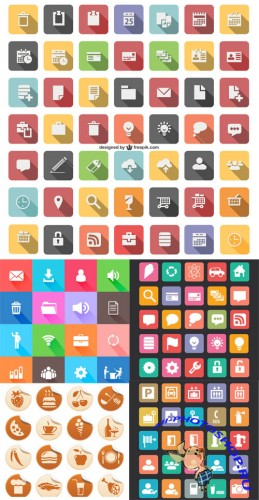 Flat Vector Icons Set 2