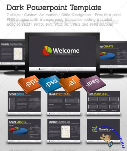 GraphicRiver - Dark Powerpoint Template 123358