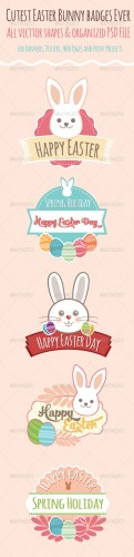Graphicriver - Easter Badges 7383626