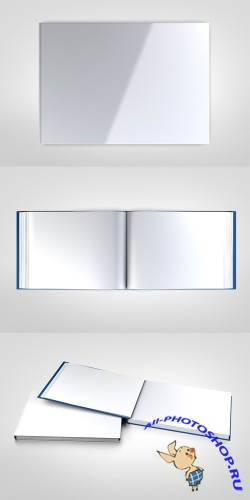 3 Clean Book Design Mock up Templates