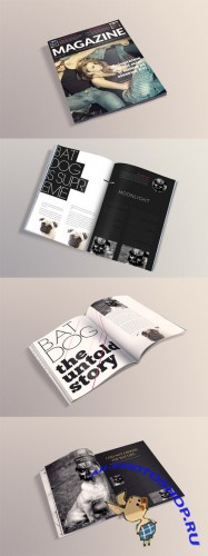 4 Magazine Mock up Templates Volume 2