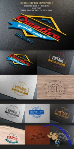 CreativeMarket - 10Photorealistic Logo Mock-Ups Vol.1