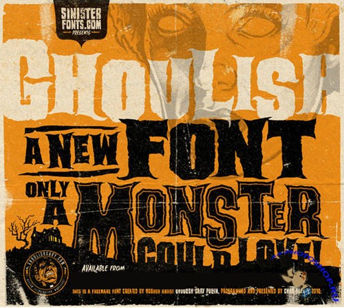 Ghoulish Normal Font