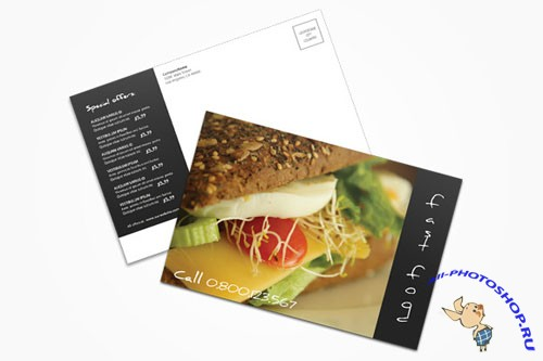 Creativemarket - Fast Food Postcard