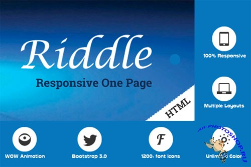 CreativeMarket - Riddle | Parallax One Page