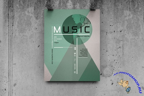 CreativeMarket - Music - Flyer / Poster