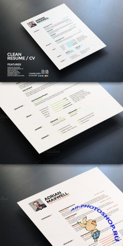 CreativeMarket - Clean Resume