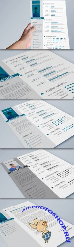 CreativeMarket - Clean Resume + Cover letter