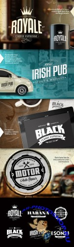 CreativeMarket - Badges & Logos Vol.01