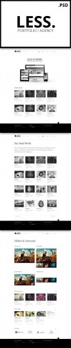 Creativemarket - LESS Portfolio / Agency PSD Template