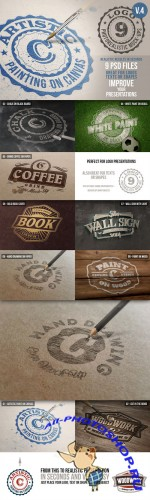 Creativemarket - Photorealistic Logo Mock-Ups Vol.4
