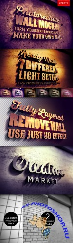 Creativemarket - Photorealistic 3d Wall Mock Up
