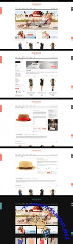 Creativemarket - Fazhionis - eCommerce PSD Template