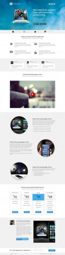 CreativeMarket - Application - Landing page for apps