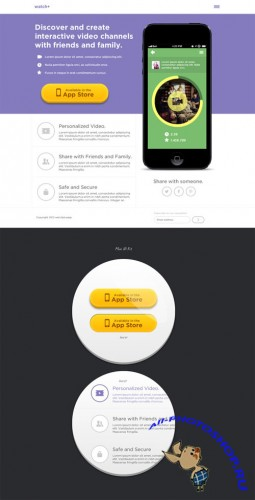 CreativeMarket - Landing Page Design PSD files
