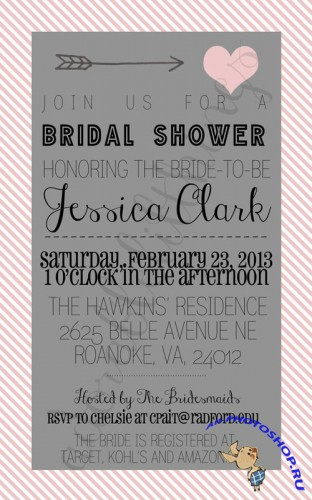 CreativeMarket - Cupid Bridal Shower Invitation