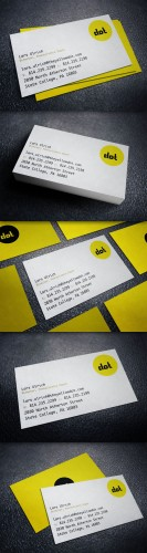 Creativemarket - The Yellow Dot Business Card