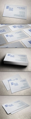 Creativemarket - Building Firm Business Card