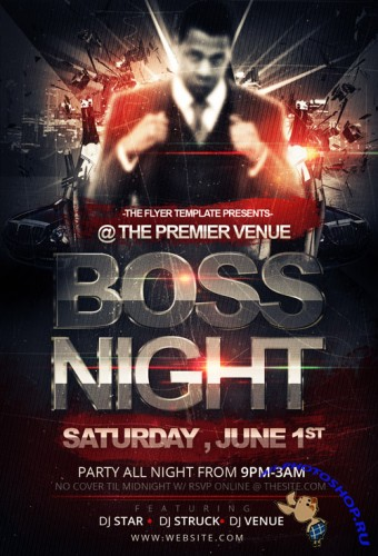 Boss Night Flyer Template