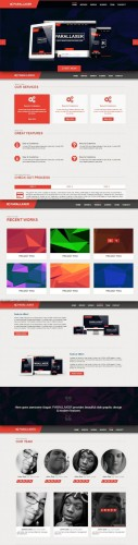 CreativeMarket - Parallaxer new one page Bootstrap