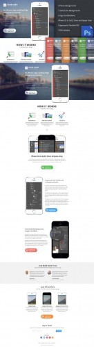 CreativeMarket - iPhone App Landing Page (PSD)