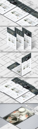 CreativeMarket - Isometric A4 Paper Mockup